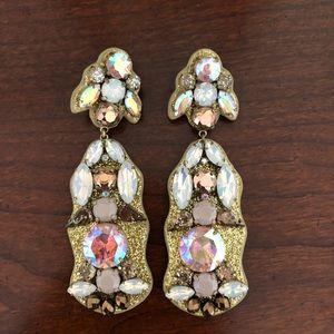 J. Crew Crystal Drop Earrings